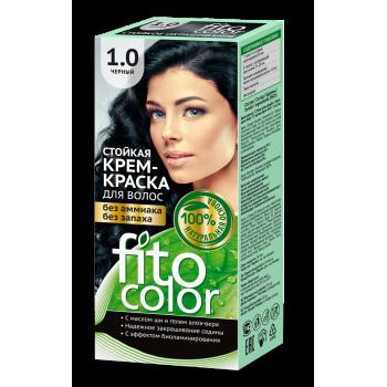 Стойкая крем-краска для волос FitoColor (цвет черный)