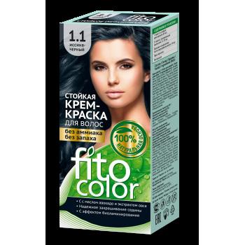 Стойкая крем краска для волос FitoColor (цвет иссиня-черный)