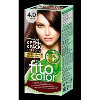 Стойкая крем-краска для волос FitoColor (цвет каштан)