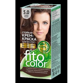 Стойкая крем краска для волос FitoColor  (цвет темно-русый)
