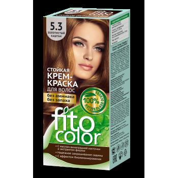 Стойкая крем-краска для волос FitoColor (цвет золотистый каштан)