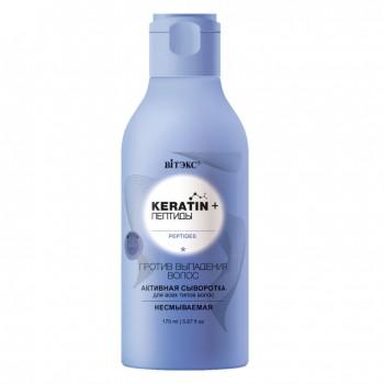 Keratin + Пептиды активная сыворотка для всех типов волос Несмываемая 170 мл.