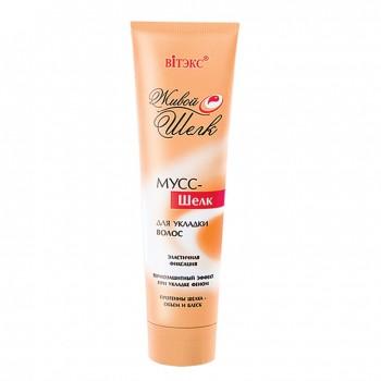 Мусс-шелк для укладки волос эластичной фиксации